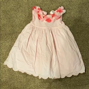 Girls pink spring or summer dress